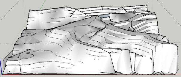 how to create contours in sketchup