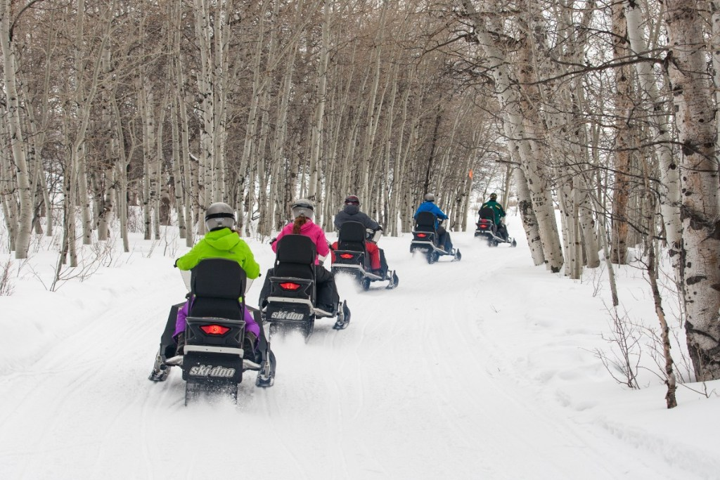 Snowmobiling at Deer Valley Resort