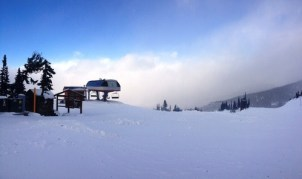 Above the clouds at the top of the new Crystal Ridge Express
