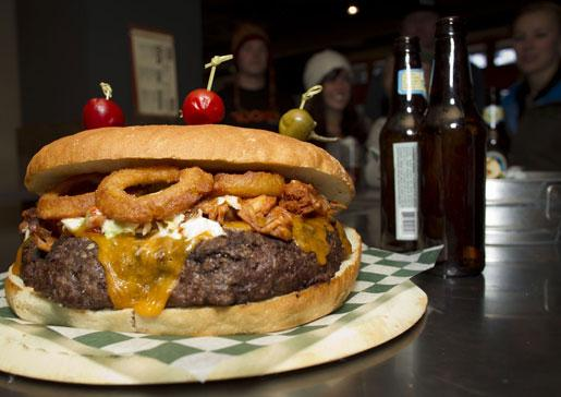 GNAR Burger at Rocker at Squaw