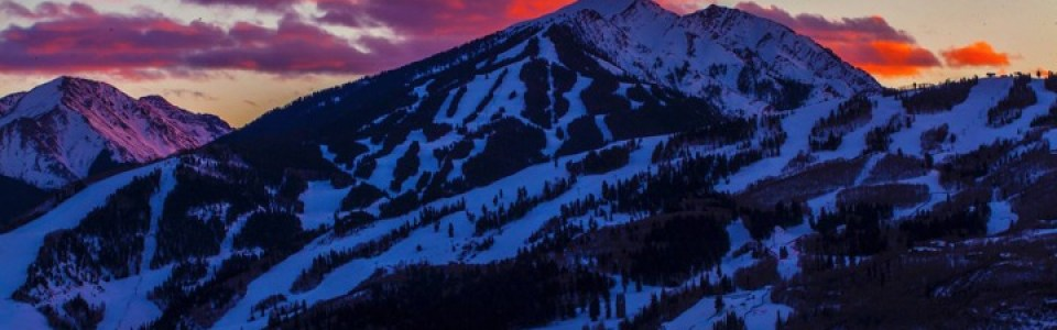 Sunset on the final day of Aspen X Games 2014