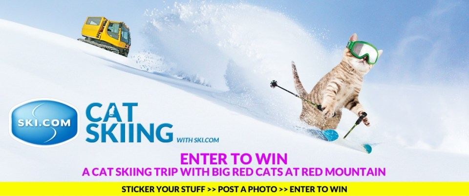 Enter to win Ski.com's cat skiing trip