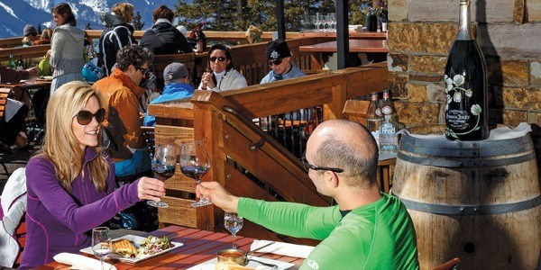 Telluride's Alpino Vino is one of the best places to clink glasses with your darling. pc: Telluride Resort