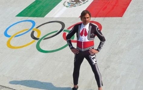 Hubertus von Hohenlohe designed the Mariachi racing suit he will compete in the Slalom event at the 2014 Sochi Winter Olympics