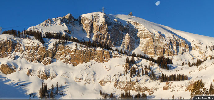 Jackson Hole provides 4,139 vertical feet and the most continuous lift-served skiing in the U.S.