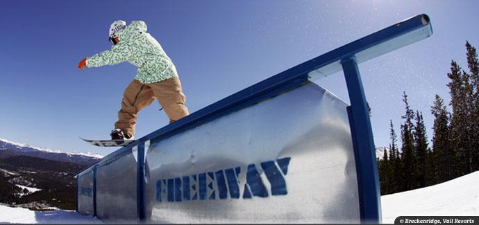 Breckenridge Freeway Terrain Park Snowboarding
