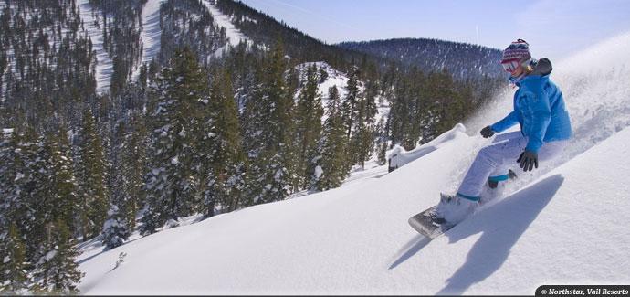 snowboarding Northstar