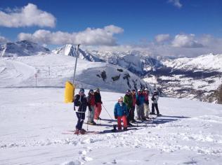 skiing at Champoluc