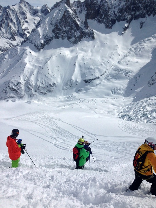 Vallee Blanche envers du plan