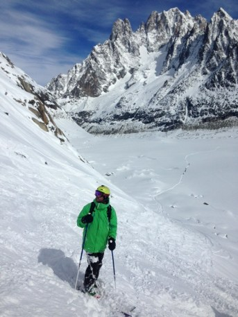 Vallee Blanche steep route