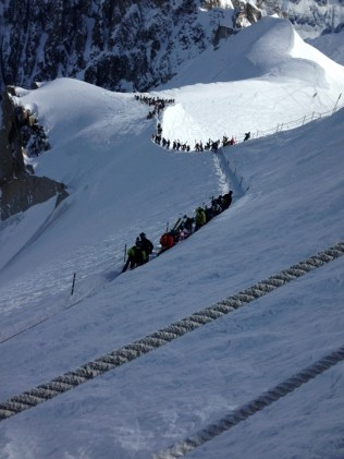 Vallee Blanche hike down