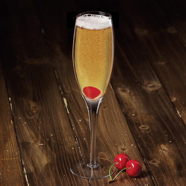Bubbles up! The Heart Brecker features Breckenridge Bourbon.