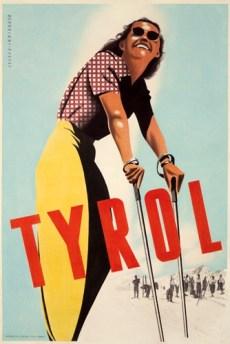 Tyrol Vintage Ski Poster, Ski Poster, Vintage Ski Poster