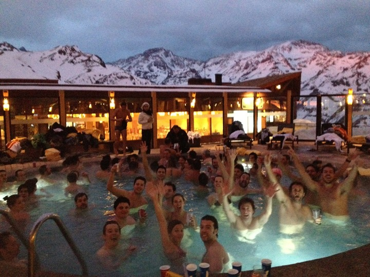 Valle Nevado hot tub