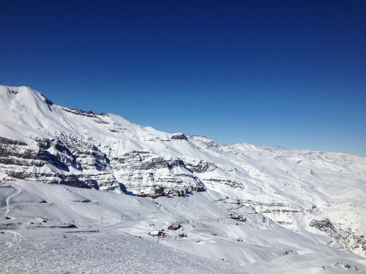 Andes snow in Valle Nevado