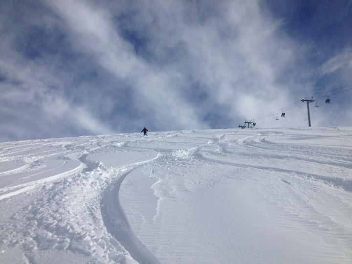 Deep snow n Valle Nevado