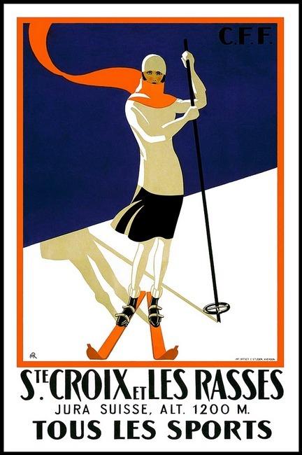 St. Croix Vintage Ski Poster