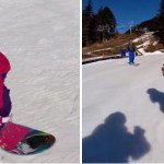 Poll: Who is cuter? Baby snowboarders or skiers