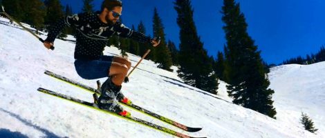 straight skis, skiing on straight skis