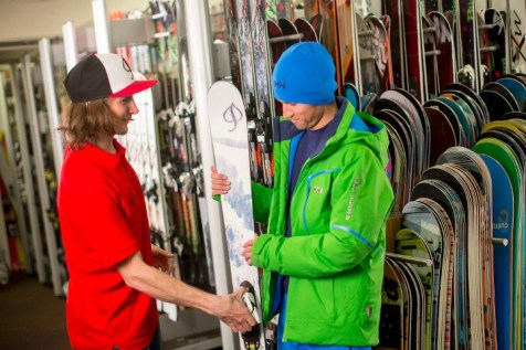 Renting or demo-ing new skis or a board gives you the opportunity to try something new. You can switch out the gear easily, too. | Photo: