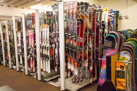 Modern rental shops, like Aspen Snowmass' Four Mountain Sports, carry the season's latest and greatest. | Photo: Aspen Snowmass