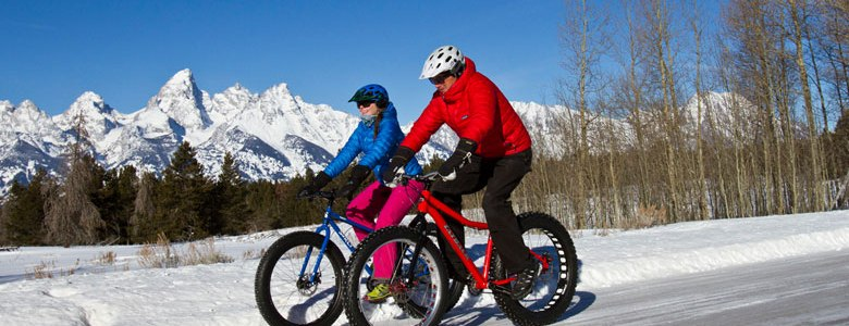 In Jackson Hole, you can take a national park or wildlife tour by fat bike. | Photo: Teton Mountain Bike Tours