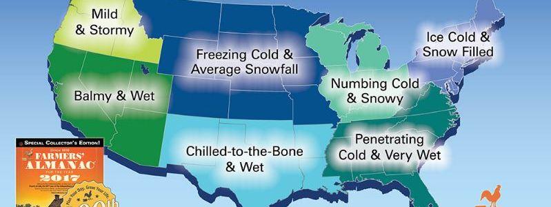 2017 Farmer's Almanac Winter Forecast