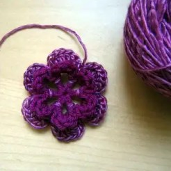 Crochet Six Petal Flower