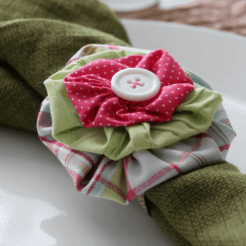 Yo Yo Flower Napkin Rings