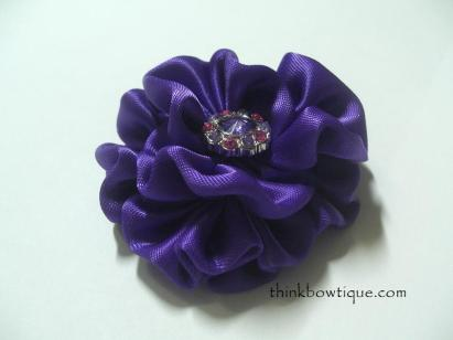 gathered ribbon flower
