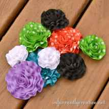 Ruffled Ribbon Flowers