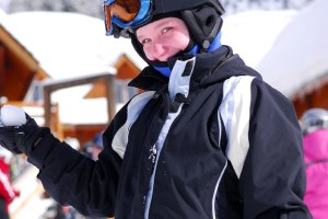 kid at ski resort
