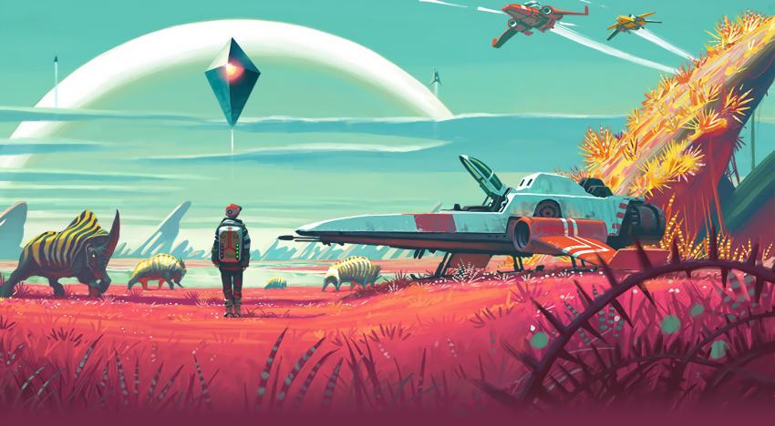 ظهور اكواد لمركبات ارضية في اخر تحديث للعبة No Man's Sky