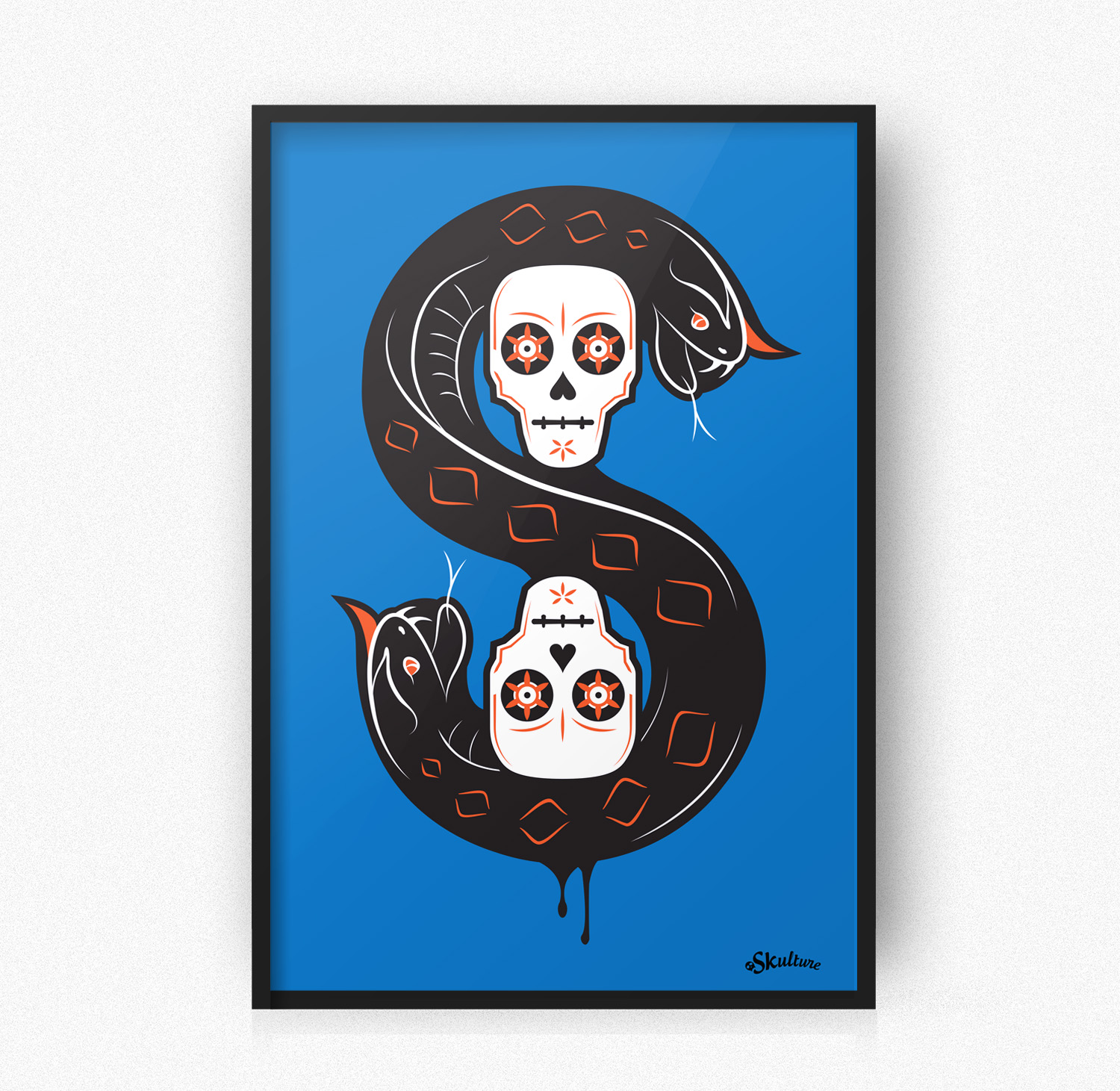 """Snakes and Skulls"" Print"
