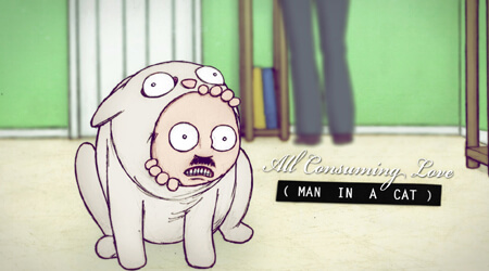 All Consuming Love (Man in a Cat): Interview & Full Short Film