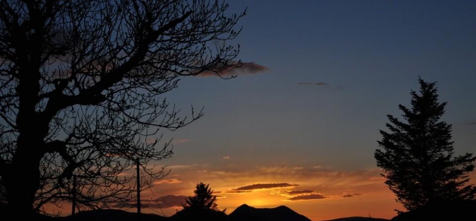 Sunset from garden of Tigh Roisin