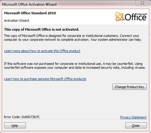 Office 2010 problem
