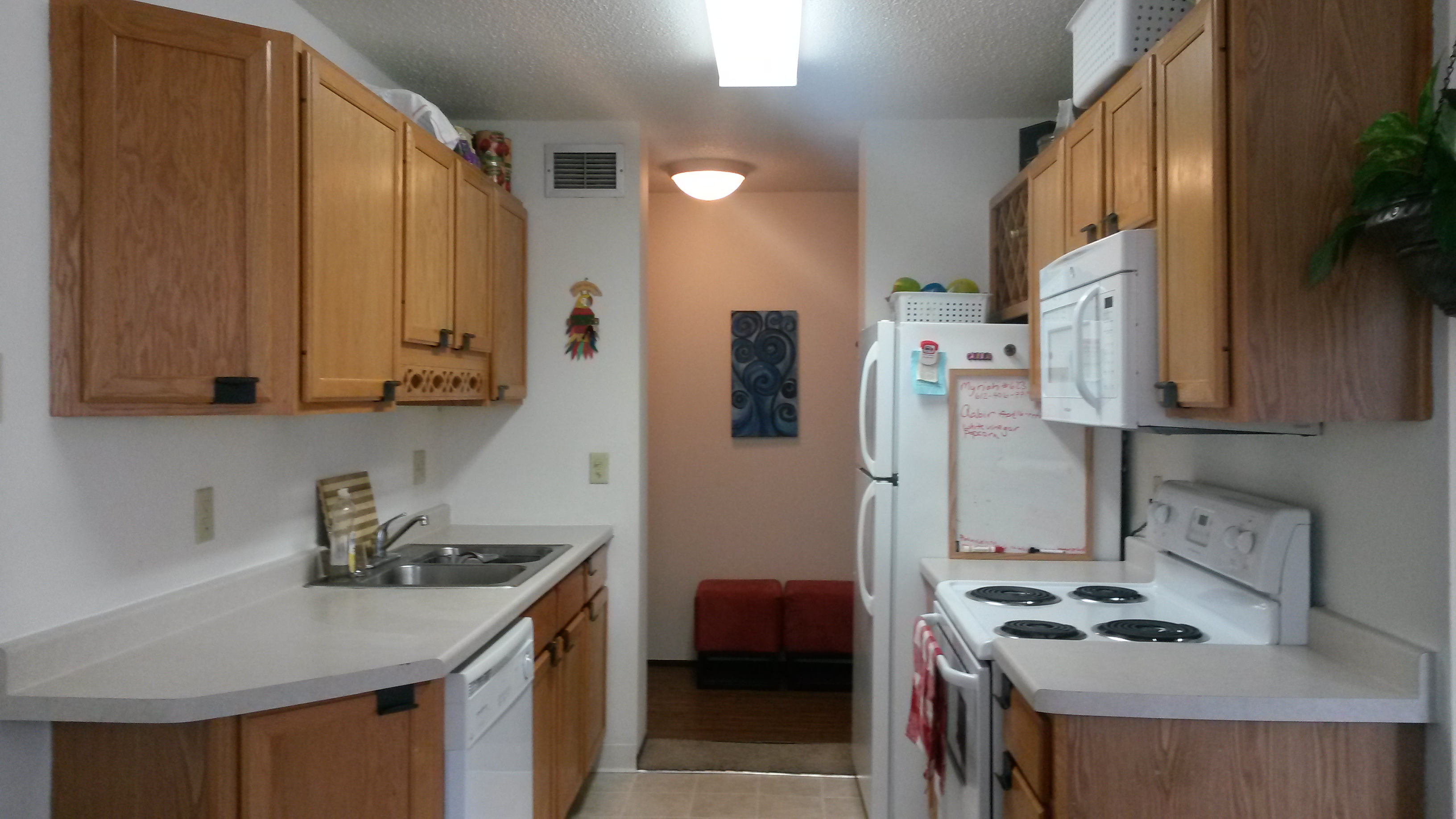 Typical Rental Galley Style Kitchen