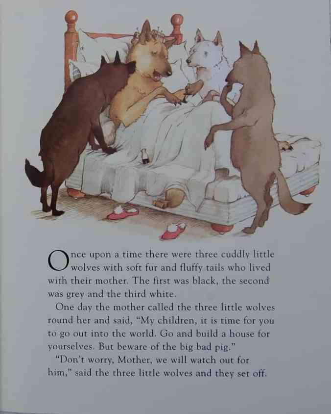Three Little Wolves opening page