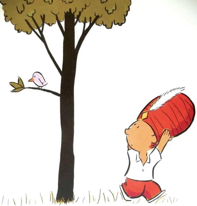 bird is in a tree