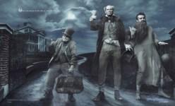 Black Ferrell Segel Haunted Mansion