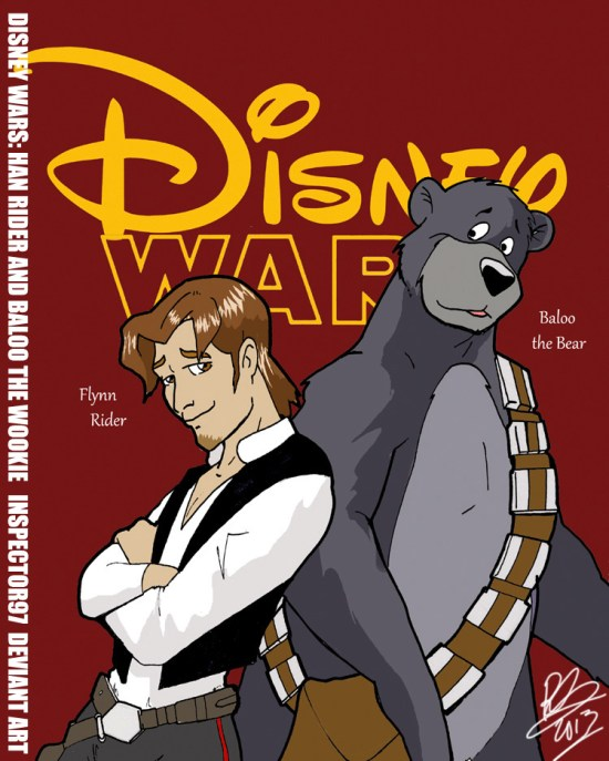 Disney Wars Han Rider and Baloo the Wookie