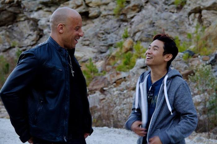Fast and Furious 7 - Vin Diesel and James Wan