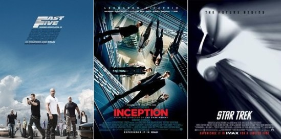 Fast Five / Inception / Star Trek