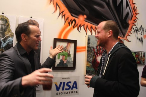 Joss Whedon and Clark Gregg at the Avengers Assemble Art Show