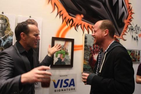 Joss Whedon and Clark Gregg at the Avengers Assemble Art Show