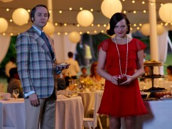 Mad Men Season 7 garden party - Pete and Peggy