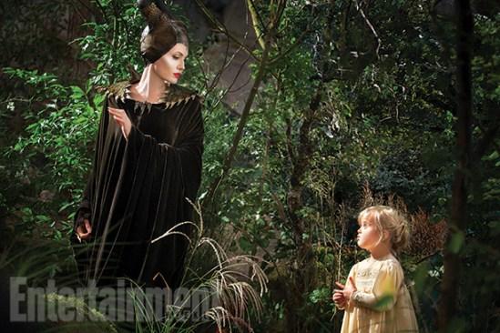 Maleficent - Angelina Jolie and Vivienne Jolie-Pitt