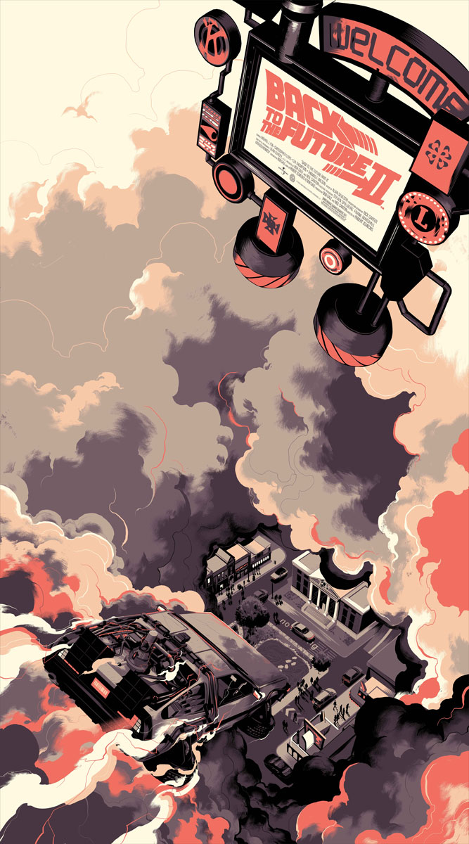 Stuff matt taylor s back to the future 2 posters from mondo