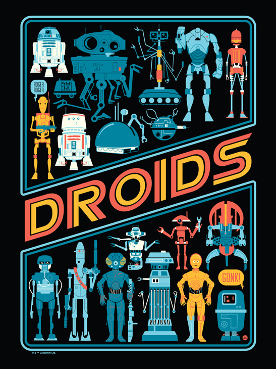 May the 4th - Droids by Dave Perillo